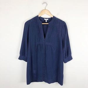Joie 100% Silk Ruched Tunic Top
